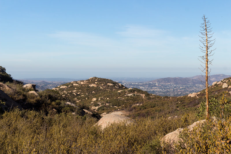 Looking west towards Poway from the Warren Canyon Trail