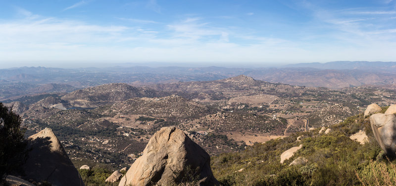 View from the summit of Mount Woodson