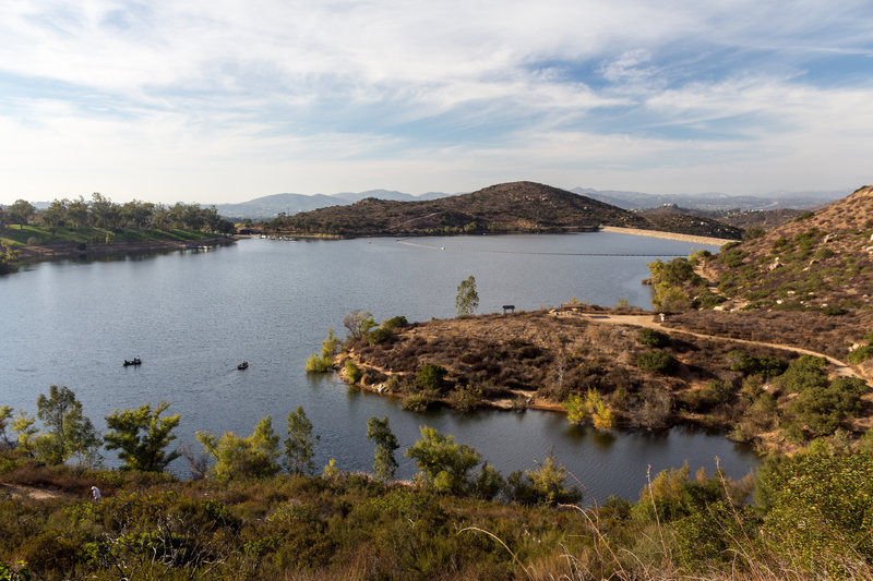Lake Poway from the Mount Woodson Trail