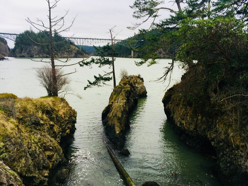 Deception Pass Bridge, from Lighthouse Point.
