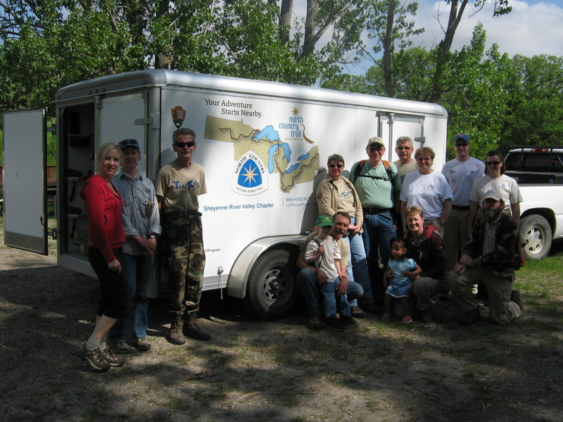 SRV Chapter volunteers gather before a trail workday