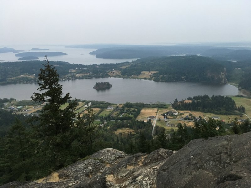 Looking south from the Mt. Erie Summit.