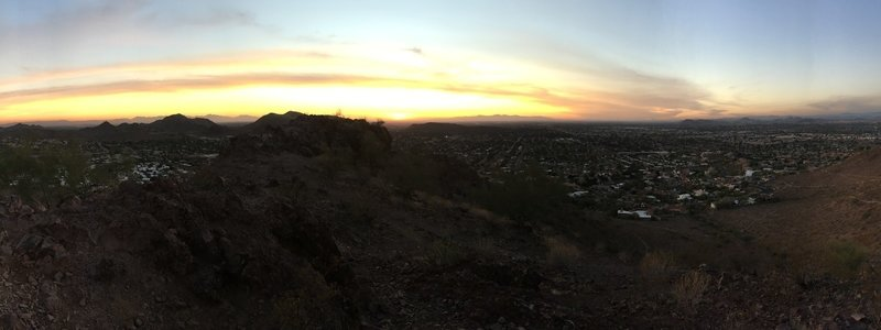 Panoramic sunset view from South (l) to North (r)