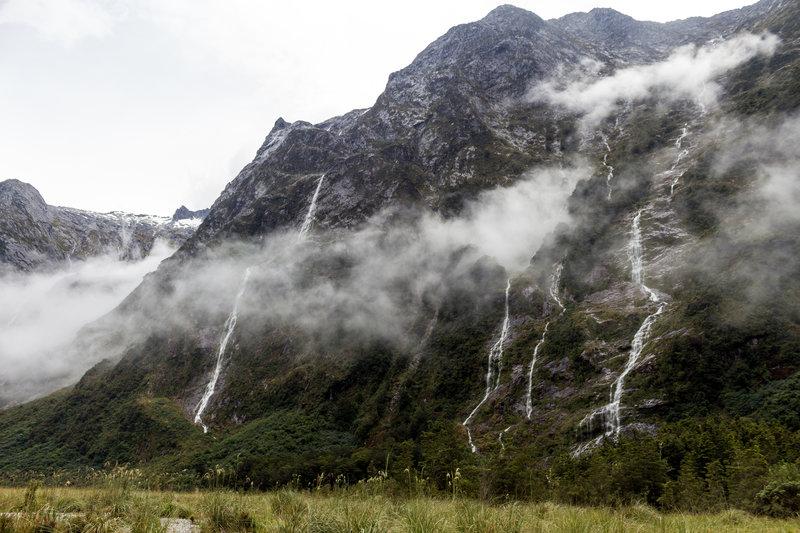 Waterfalls near Dead Lake after a heavy morning rain