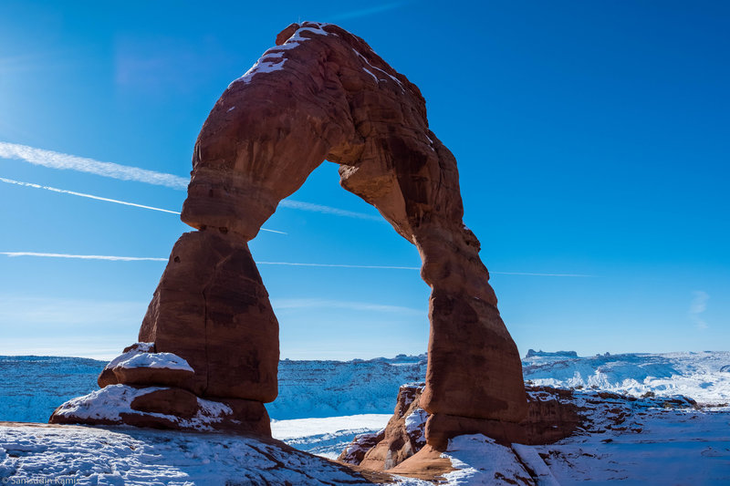 Delicate Arch in Winter - Worth the hike