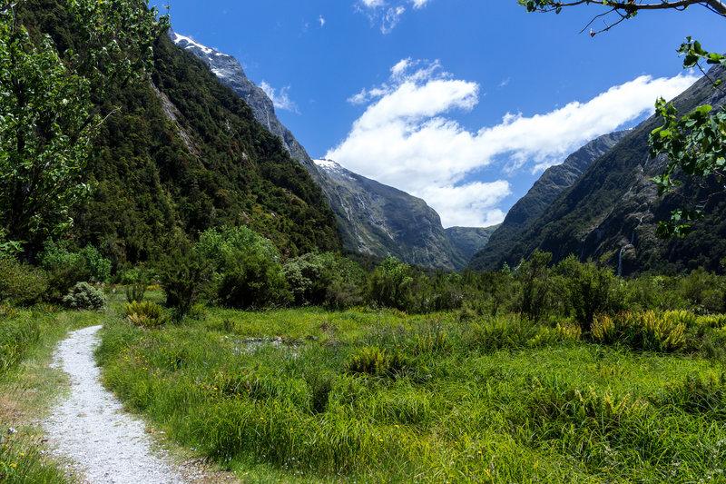 Clinton Valley looking towards Mackinnon Pass