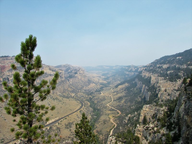 View from the Leigh Monument, Bighorn Mountains, Wyoming