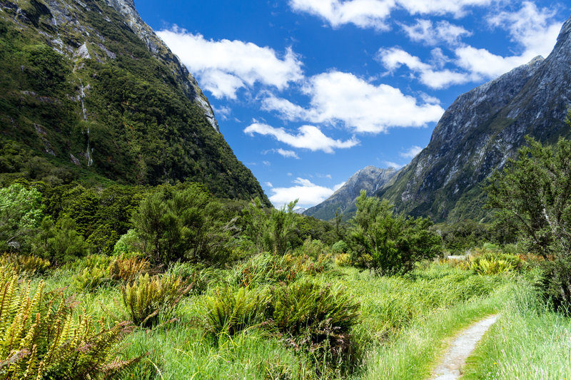 Looking back down the Clinton Valley from the Milford Track