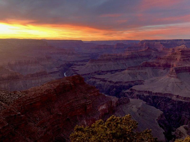 Hopi point at sunset