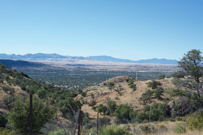 You can see the border fence as it goes off into the distance. To the left, Mexico. To the right, Arizona.