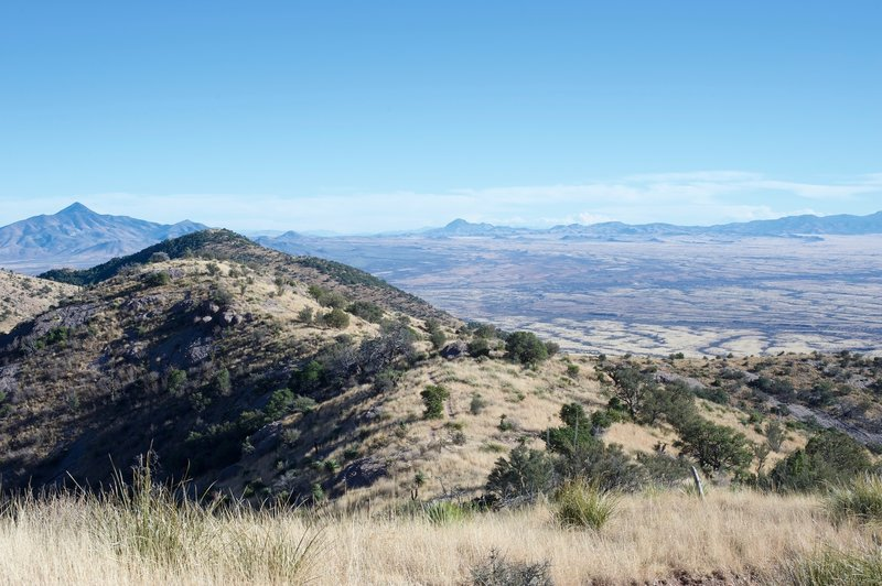 Joe's Canyon Trail runs along the ridge here before dropping down to the visitor center.  Sweeping views await.