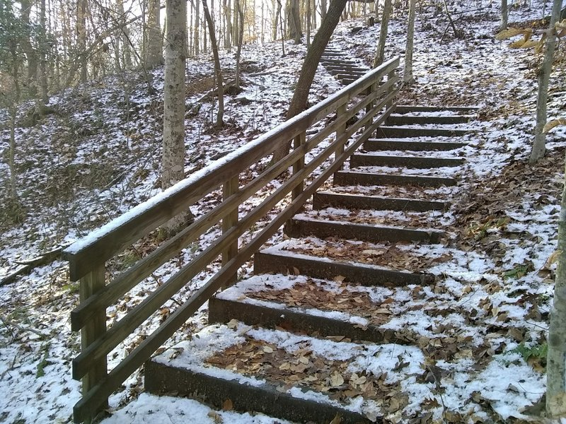 Quick set of stairs to run along the Group Spur Trail