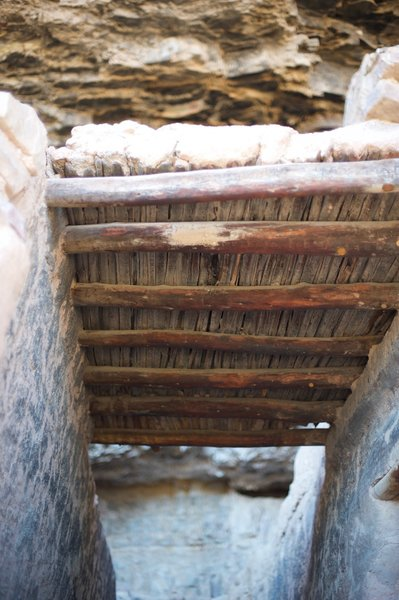 This is the original roof in the Lower Cliff Dwelling.