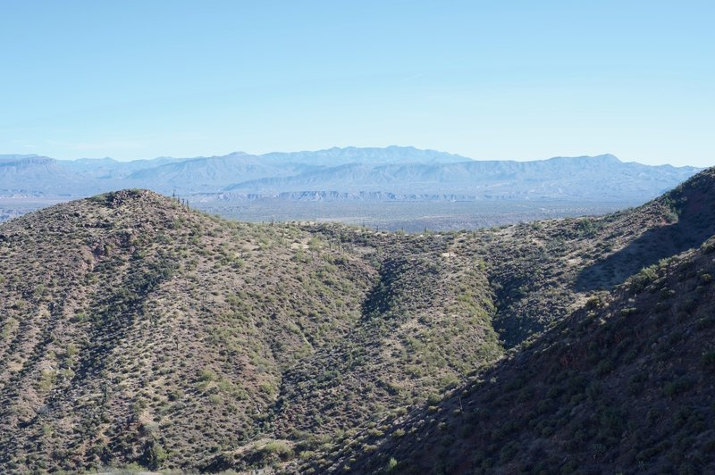 Views of the surrounding mountains from the lower cliff dwelling.