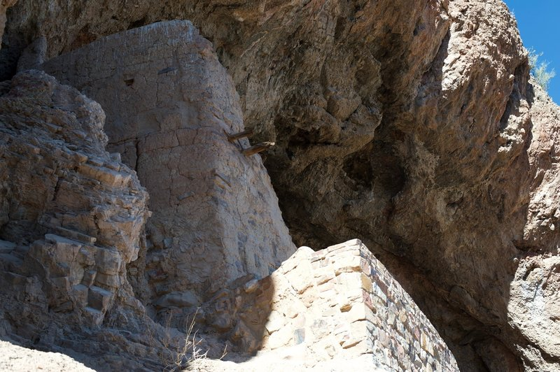 The ruins at the Lower Cliff Dwelling as they are today. It is amazing they have survived this long.
