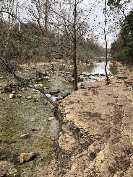 Plenty of waterfront spots for enjoying the creek.