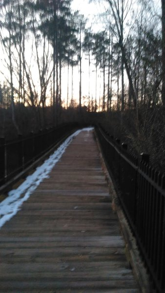 Walking Bridge near Edward Mills Road, at beginning of Schenck Forest Trail