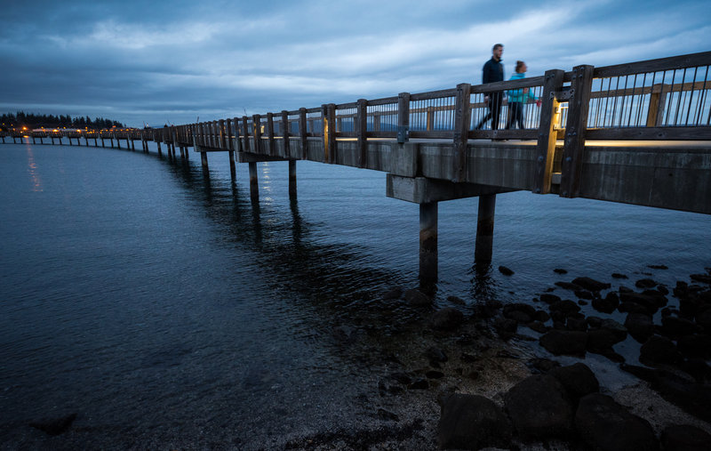 The pier along the South Bay Trail is a popular spot in Bellingham.
