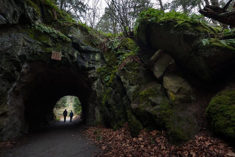 The small tunnel near the parking lot makes a nice detour on the way to the observation tower.