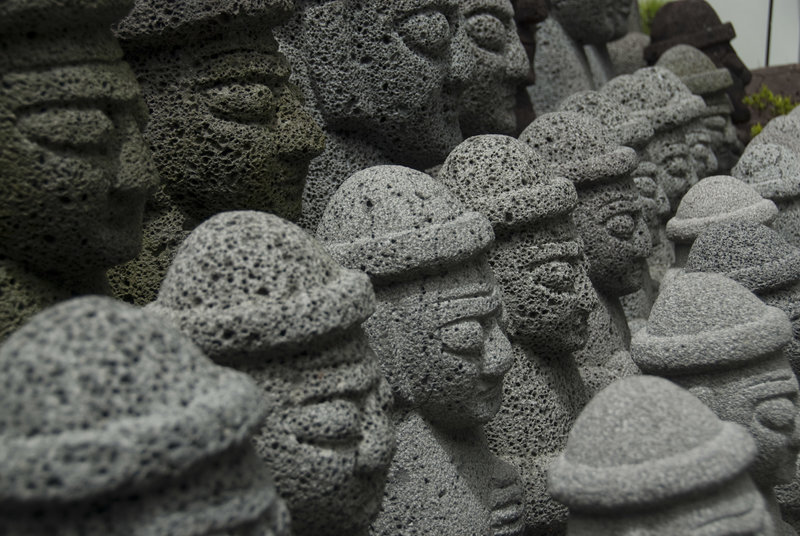Carvings like these can be found all over Jeju