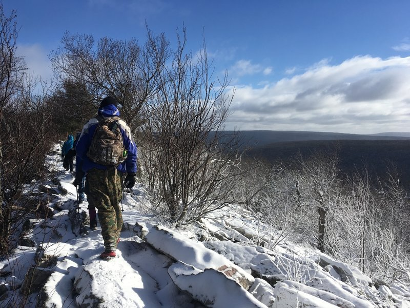 Hiking the ridge on Jackson Trail