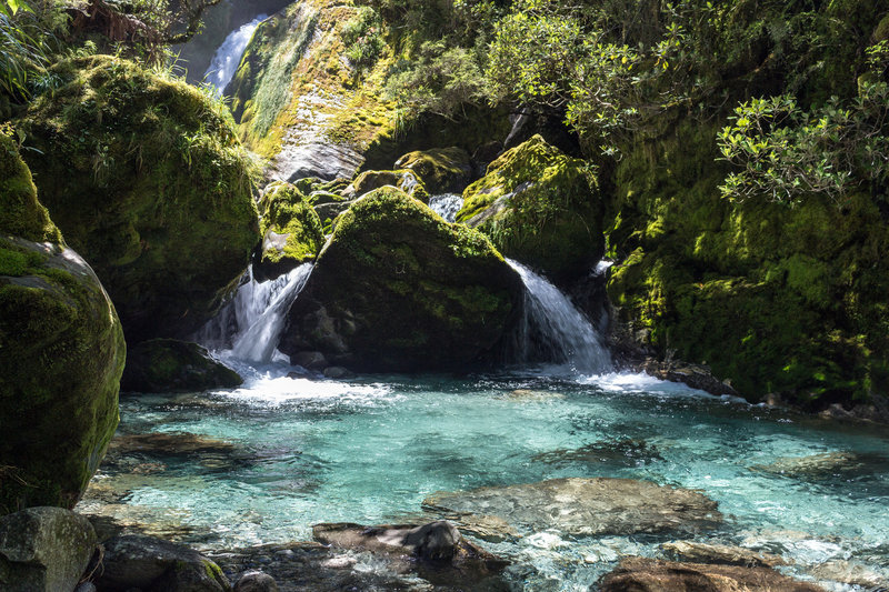 The water in Roaring Burn is crystal clear. Dip your feet into one of these amazing pools.