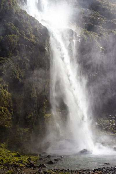 Lower section of Sutherland Falls