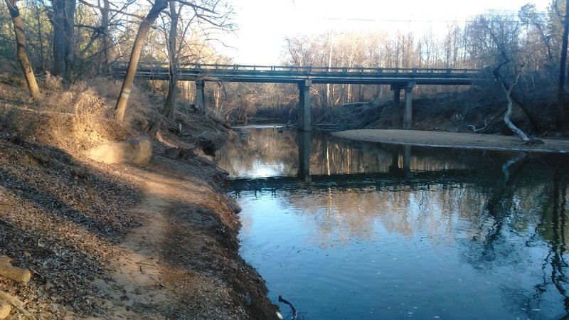 View of Old Oxford Highway Bridge over Eno River