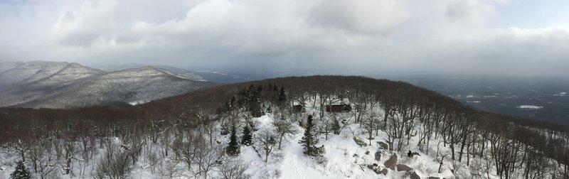 View from the fire tower on Overlook Mtn