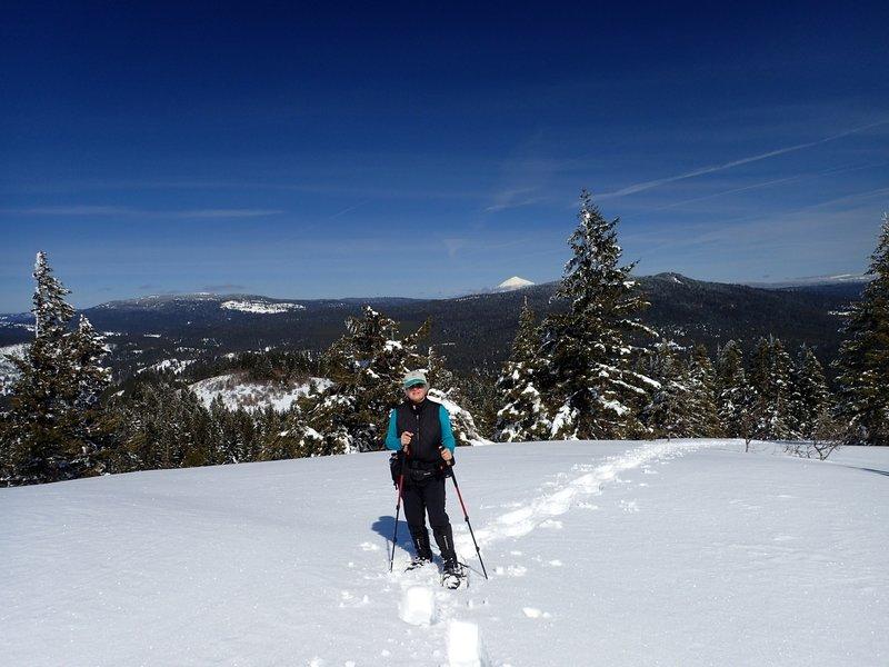 Mount McLoughlin from Hobart Bluff in winter