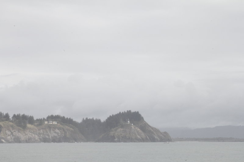 Looking SE towards the Cape Disappointment Lighthouse.
