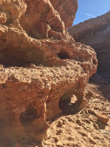 Some of the cool rock formations in the canyon