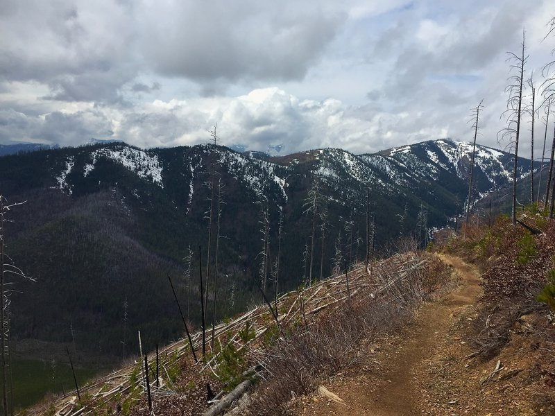 Looking back along the switchbacks