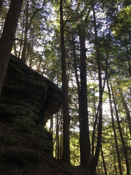Cliffs along Queer Creek