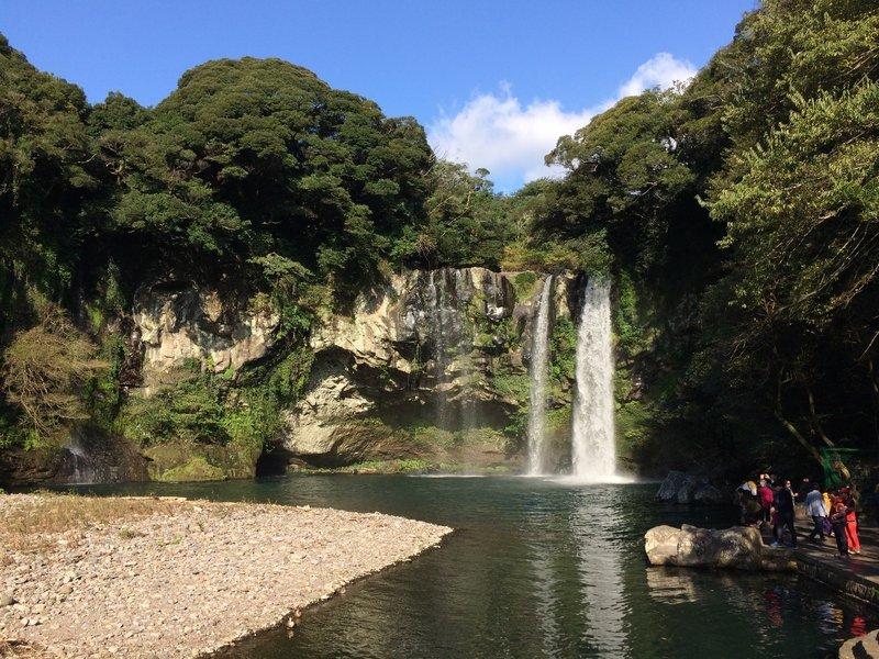 Cheonjeyeon Waterfall.