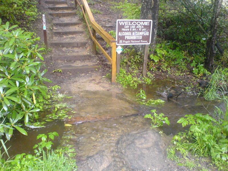 Elk River Falls entrance.