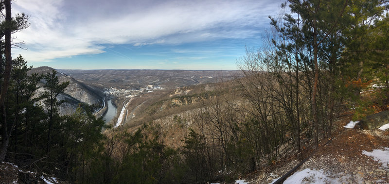 View of Mapleton and Juniata River from Ledge Quarry.