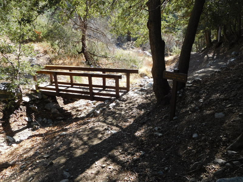 Soldier Creek and Pinyon Ridge trail junction.