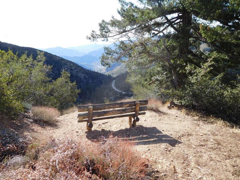 Good viewing location of San Gabriel Canyon.