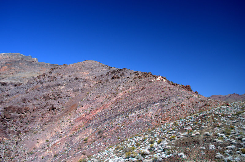 The lower part of the ridge, with trail to the right.