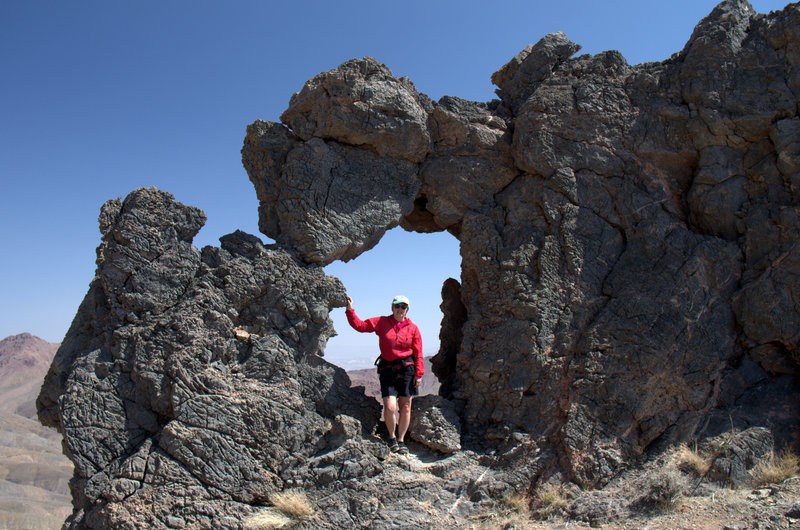 Hole-in-the-Rock near the summit.