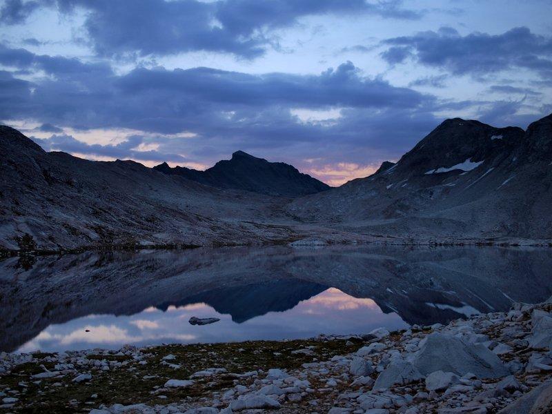 Sunset at Wanda Lake.