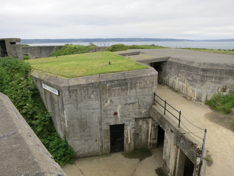 Military defences at Fort Casey State Park.
