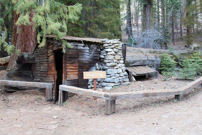 Tharp's Log cabin.