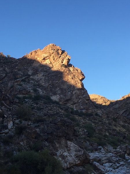 Ol' man Ford - one of the unique rock formations along the trail