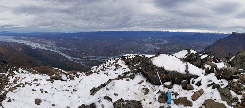 Summit view looking northwest towards Palmer and Wasilla.