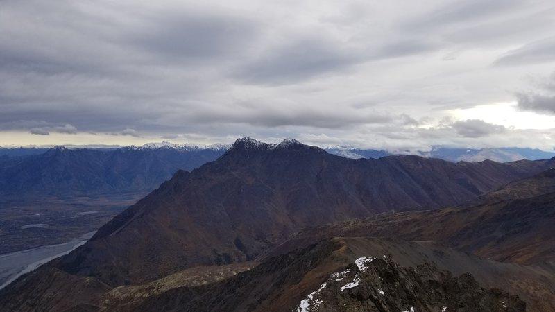 Summit view looking northeast toward Pioneer Peak.
