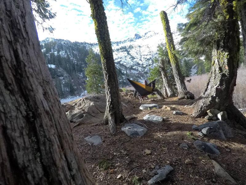 Beautiful campsite above the lake 1/13/18