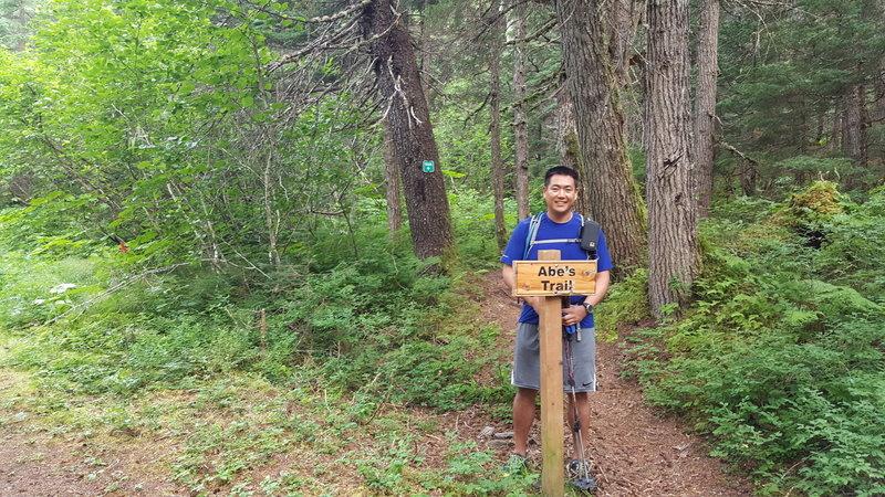 Abe's Trail trailhead sign