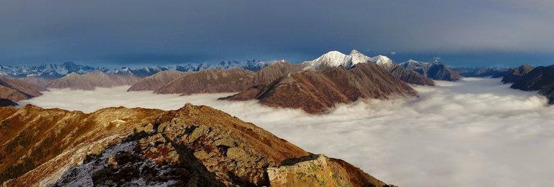 Summit photo above the fog